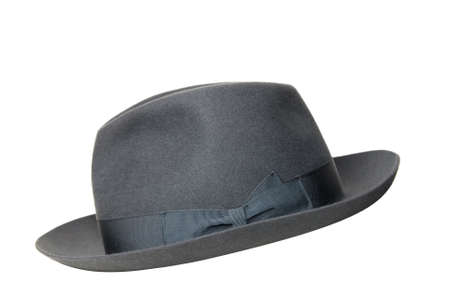 retro black hat isolated on white photo