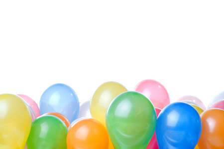 color balloons isolated on white Stock Photo - 6871100