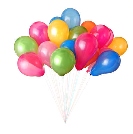 color balloons isolated on white Stock Photo - 6989576