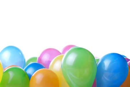 color balloons isolated on white Stock Photo - 7085420