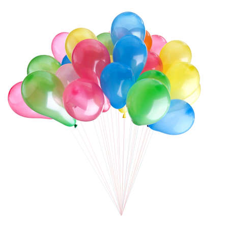 color balloons isolated on white Stock Photo - 7466370