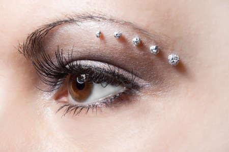make-up on woman eye  photo