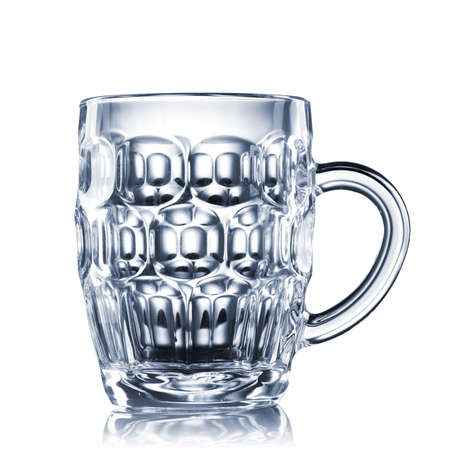 pint glass: empty beer glass isolated on white