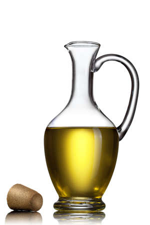 Bottle of oil isolated on white