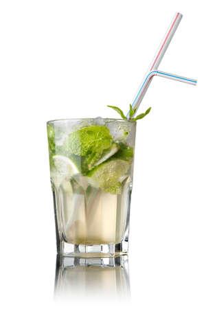 mohito: mohito cocktail isolated on white Stock Photo