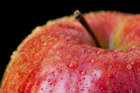 red apple isolated on black Stock Photo - 12747446