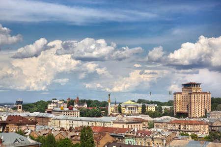 Kiev summer center cityscape