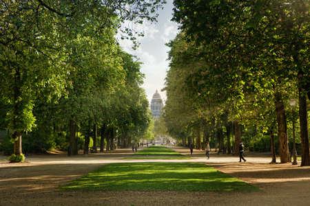 public park: Royal park in Brussels Stock Photo