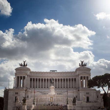 piazza: The Piazza Venezia, Vittorio Emanuele in Rome, Italy