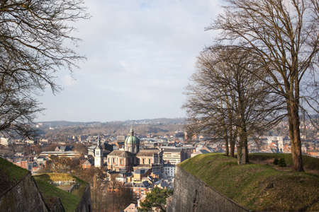 wallonie: Cityscape of Namur, Belgium Stock Photo