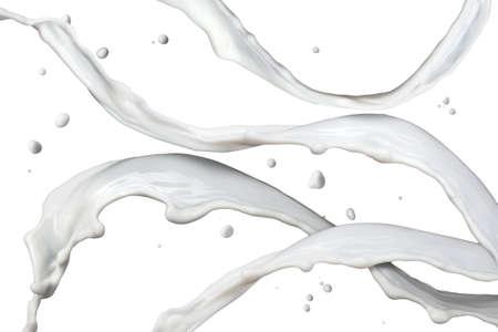 milk splash isolated on white photo