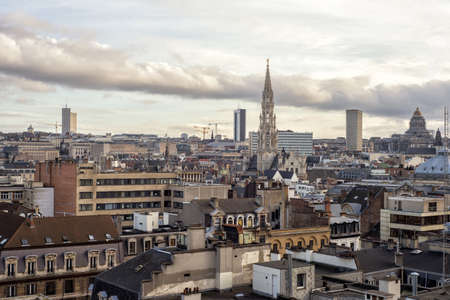 belgien: Cityscape of Brussels, Belgium Stock Photo