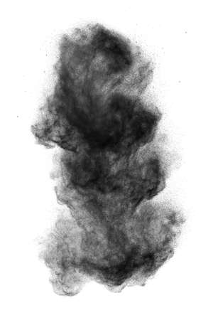 black powder: Black powder explosion isolated on white background Stock Photo