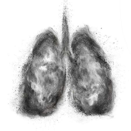 staub: Lungen von Schwarzpulver Explosion isoliert auf weißem Hintergrund Lizenzfreie Bilder