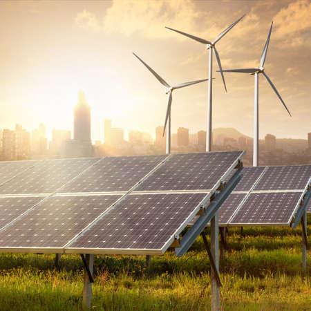 solar panels under blue sky 스톡 콘텐츠