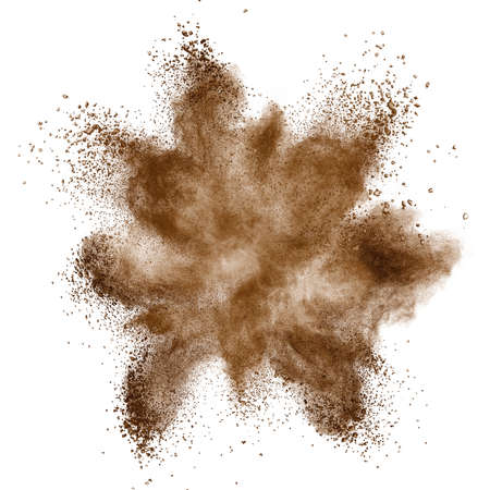 coffe bean: Coffee explosion isolated on white background