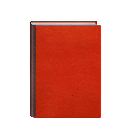 hardcovers: Book with red hardcover isolated on white background Stock Photo