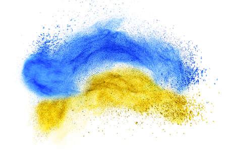 skintone: powder foundation explosion isolated on white background