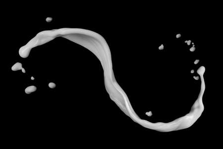 우유 시작 검은 배경에 고립 스톡 콘텐츠 - 36811212