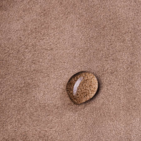 macro photo of water drop on leather Stock Photo