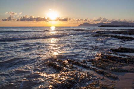 mallorca: Sunrise on the sea. Mallorca