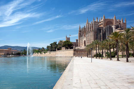 palma: The Cathedral of Santa Maria in Palma de Mallorca Stock Photo