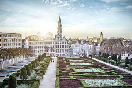 Monts des Arts in Brussels Foto de archivo