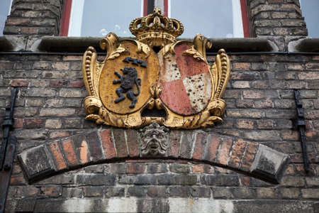 serenety: Decoration on old houses of Bruges in Belgium