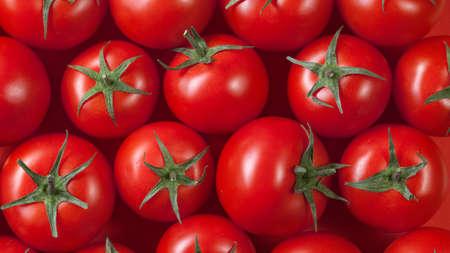 tomate: fond de tomates rouges. vue de dessus. En-tête pour le site Web