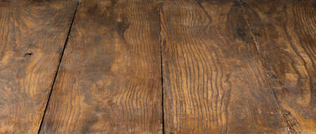 focus stacking: empty old brown wooden texrured background. All image sharp, used focus stacking. Stock Photo