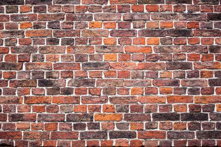 clay brick: old brick wall texture Stock Photo