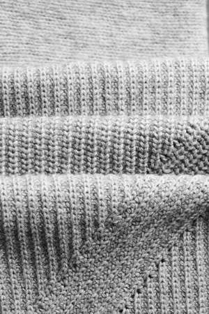 clothes winter: Close up of folded wool material with shallow depth of field