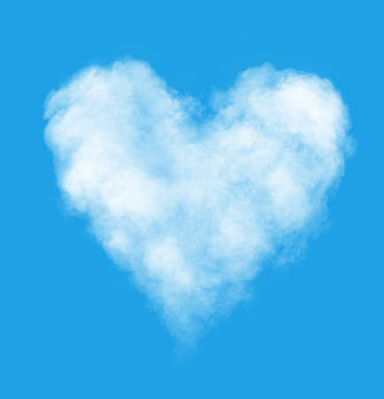 sky blue: The cloud in the form of heart against a blue sky. To the Valentines Day joke.