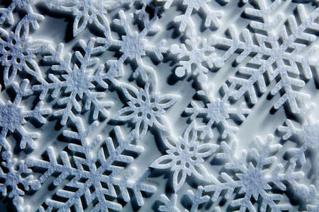 iceflower: Blue icy background with snowflakes, Christmas and winter concept