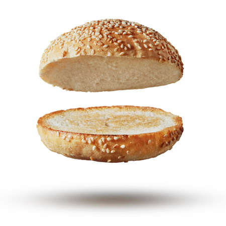 Burger bun empty isolated Stock Photo