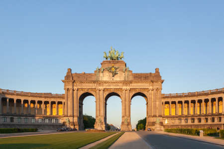 belgique: Perspective panoramic view to the Triumphal Arch