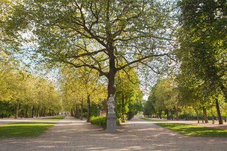 bruxelles: Sculpture in Park de Bruxelles Stock Photo