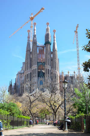 uncomplete: La Sagrada Familia in Barcelona Editorial