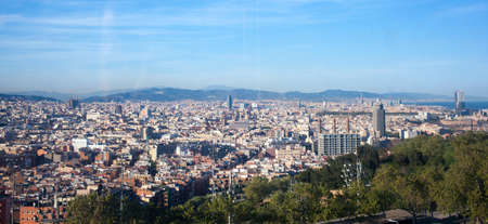 bird 's eye view: Birds eye view of Barcelona Stock Photo
