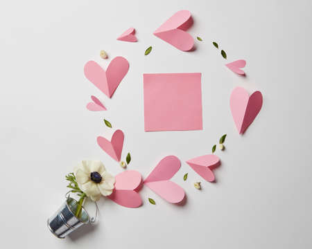 valentine card: Empty copyspace valentine card Stock Photo