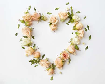 Roses buds as heart Foto de archivo