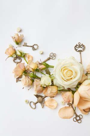 arreglo floral: Rosas rojas con la tecla