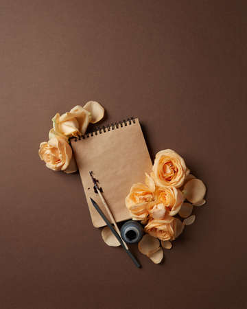lay forward: Diary or notebook for your notes Stock Photo