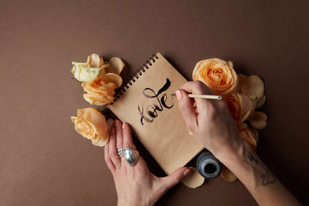 note booklet: Diary or notebook with word love