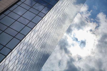 verticals: glass office building