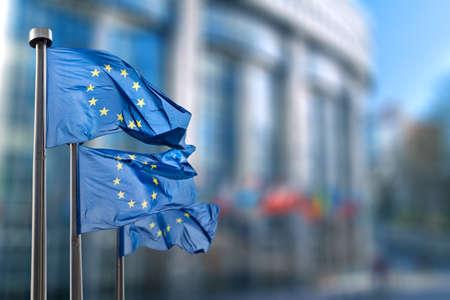 belgique: European union flag Stock Photo
