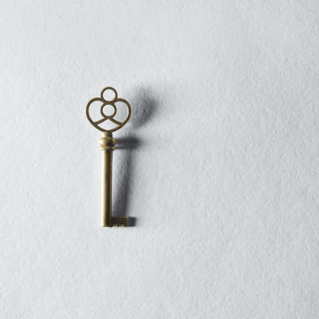 represented: Keys represented on background Stock Photo