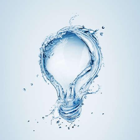 水のしぶきから電球