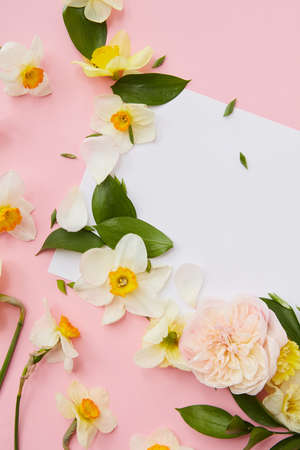 Flowers covering blank copy space Stock Photo