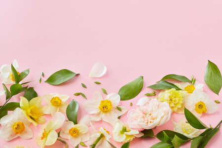 White flowers covering background Stock Photo